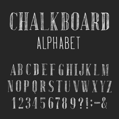 Cuadro Chalkboard Alphabet Vector Font