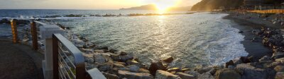 Cuadro Chiavari beach panoramic view