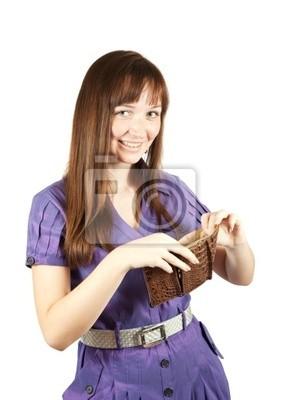 Chica con la cartera