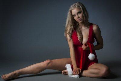Cuadro Chica de Navidad