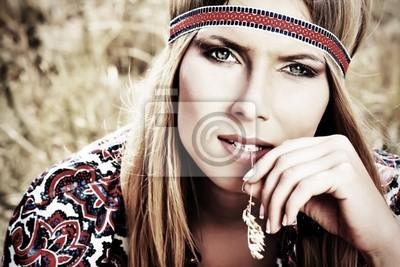 chica hippie