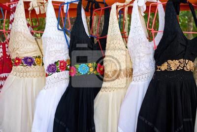 87138b19c Chichen itza bordado vestidos méxico pinturas para la pared ...