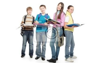 chicos de la escuela