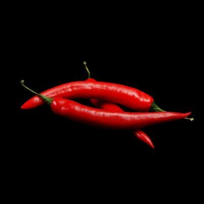 Cuadro chiles rojos calientes