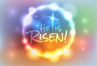 Cuadro Christian Easter Risen Illustration