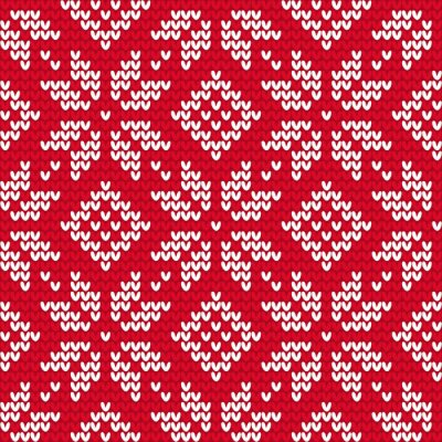 Cuadro Christmas knitted seamless pattern