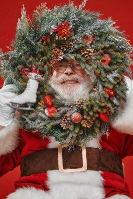 Christmas wreath look