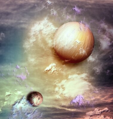 Cuadro Cielo con planetas