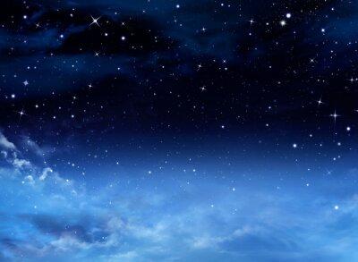 Cuadro Cielo nocturno con las estrellas