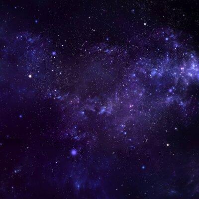 Cuadro cielo nocturno estrellado