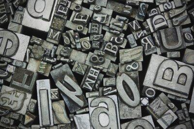 Cuadro Cierre de letras tipográficas