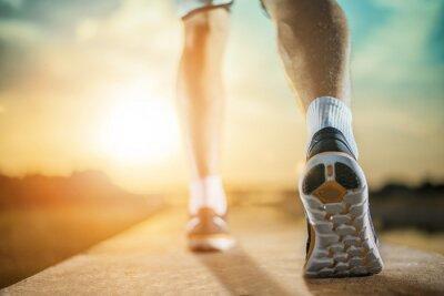 Cuadro Cierre de tiro de los zapatos de corredor