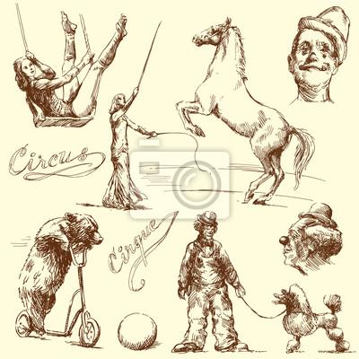 circo - conjunto de dibujado a mano
