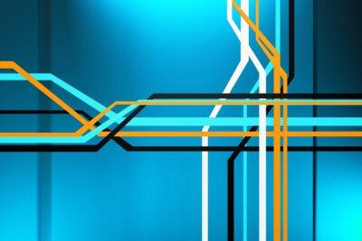 Cuadro Circuitos abstracta
