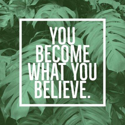 Cuadro Cita de motivación inspiradora