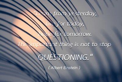 Cuadro Cita por el fondo de Albert Einstein.