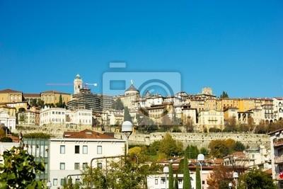 ciudad alta vieja de Bérgamo, Italia