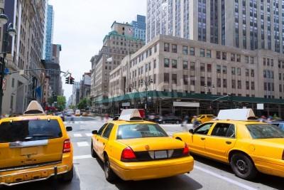 Cuadro Ciudad de Nueva York Manhattan Quinta Avenida 5ta Av taxi amarillo de EE.UU.