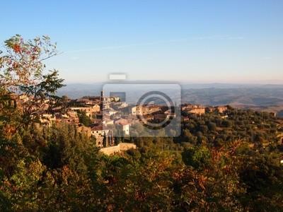 Ciudad en la cima italiana