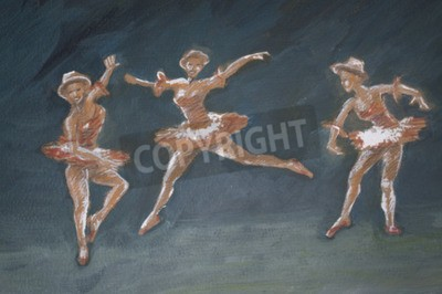 Cuadro Clásica bailarina de ballet de arte ilustración