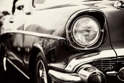 Cuadro Clásico coche con close-up en los faros