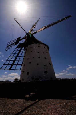 Classic Vintage Windmill Building