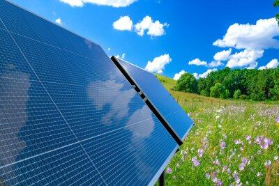 clean energy concept, photovoltaic panels