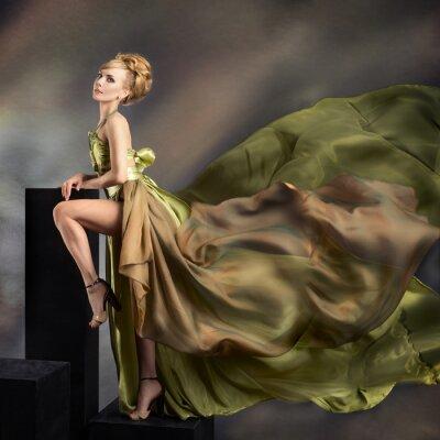Cuadro Closeup retrato de moda de mujer joven y hermosa