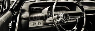 Cuadro Coche clásico fotografiado desde el lado del conductor