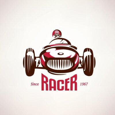 Cuadro Coche retro de la raza, el símbolo vector vendimia, emblema, plantilla de etiqueta