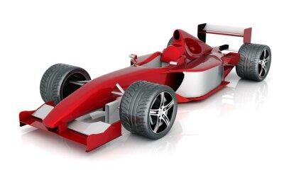 Cuadro coches Image deportivo rojo sobre un fondo blanco