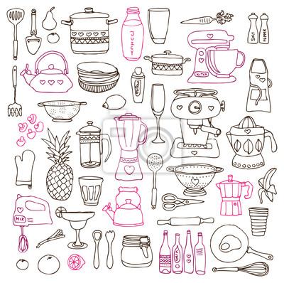 Cocina Cocinar Comida Ilustraciones Dibujos En Vector Pinturas Para