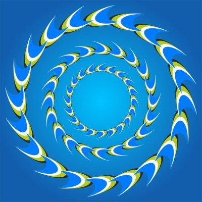 Cuadro colas círculo ilusión óptica