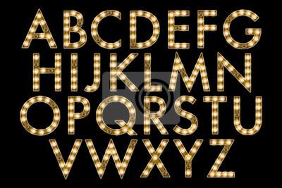 Cuadro colección de alfabeto de marquesina