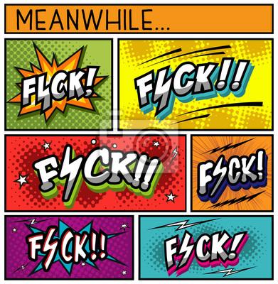 Cuadro Colección de cómics-FUCK