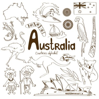 Cuadro Colección de Iconos de Australia