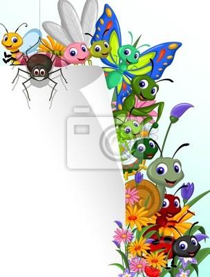 Colección de insectos con la muestra en blanco en el jardín de ...