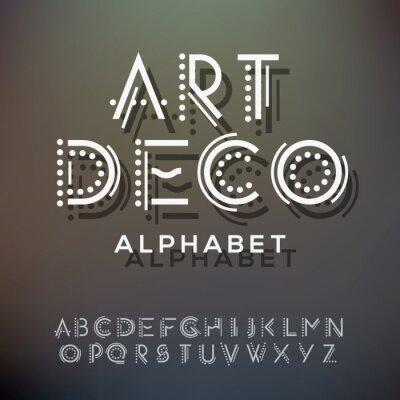 Cuadro Colección Las letras del alfabeto, de estilo art deco