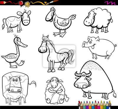 Colorear Animales De Granja Pinturas Para La Pared Cuadros