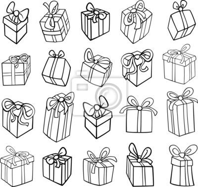 Colorear de navidad o regalos de cumpleaños pinturas para la pared ...