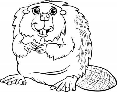 Colorear la historieta animal del castor pinturas para la pared ...
