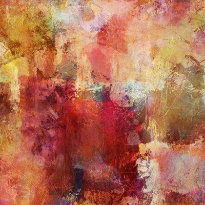 Cuadro colores técnica mixta caída de la pintura