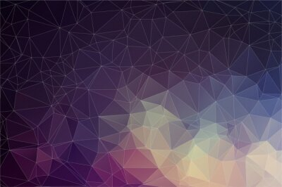 Cuadro Colorful geometric background with triangles