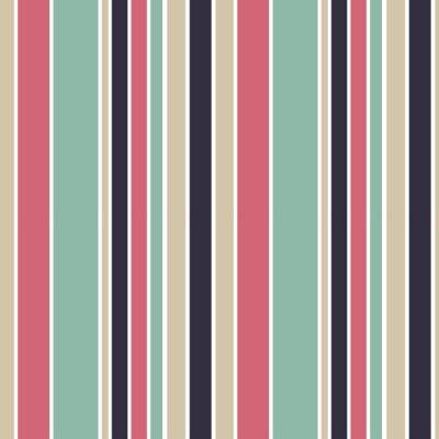 Cuadro Coloridas rayas verticales sin fisuras patrón de fondo ilustración