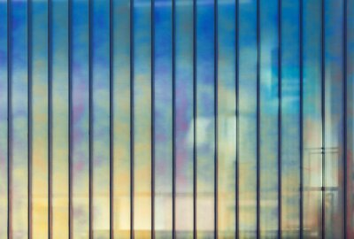 Cuadro Colorido oficina pared de vidrio, de fondo