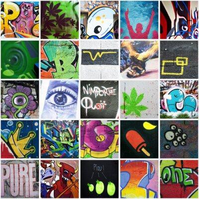 Cuadro Composición de graffiti art urbain