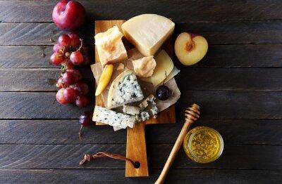 Cuadro Composición de queso oscuro