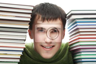 con los libros