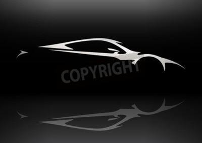 Cuadro Concept Sportscar Silueta 06 del vehículo