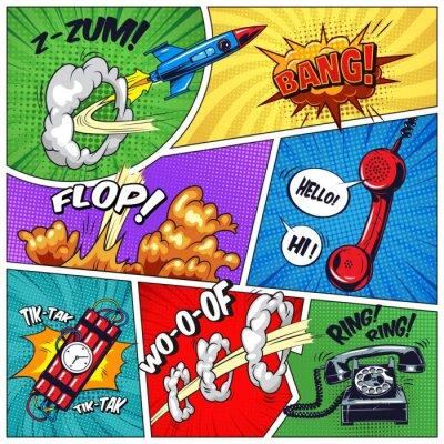 Cuadro Concepto colorido del arte pop